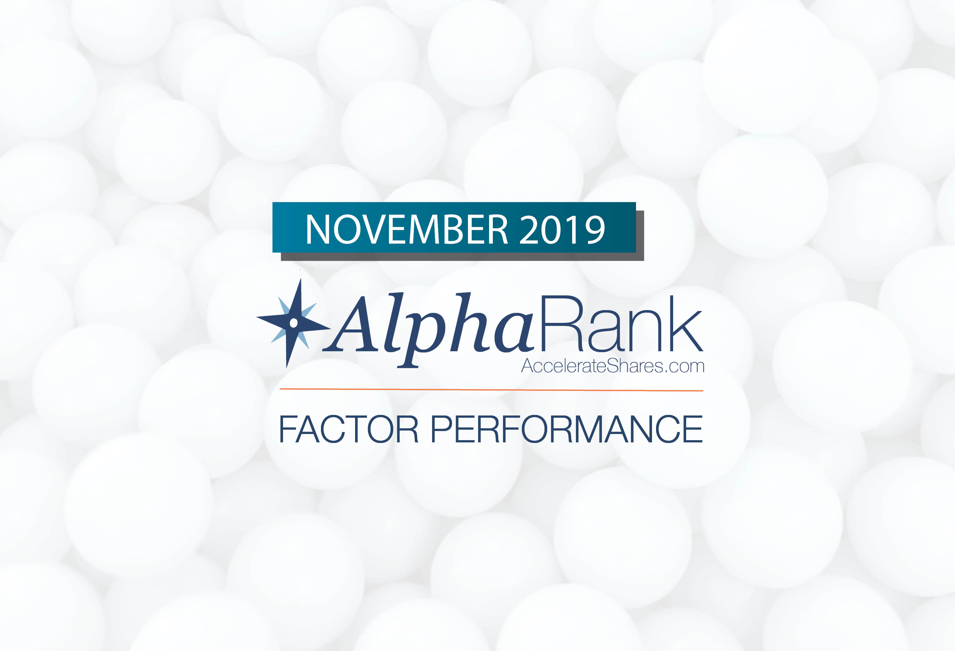 AlphaRank Factor Performance—November 2019