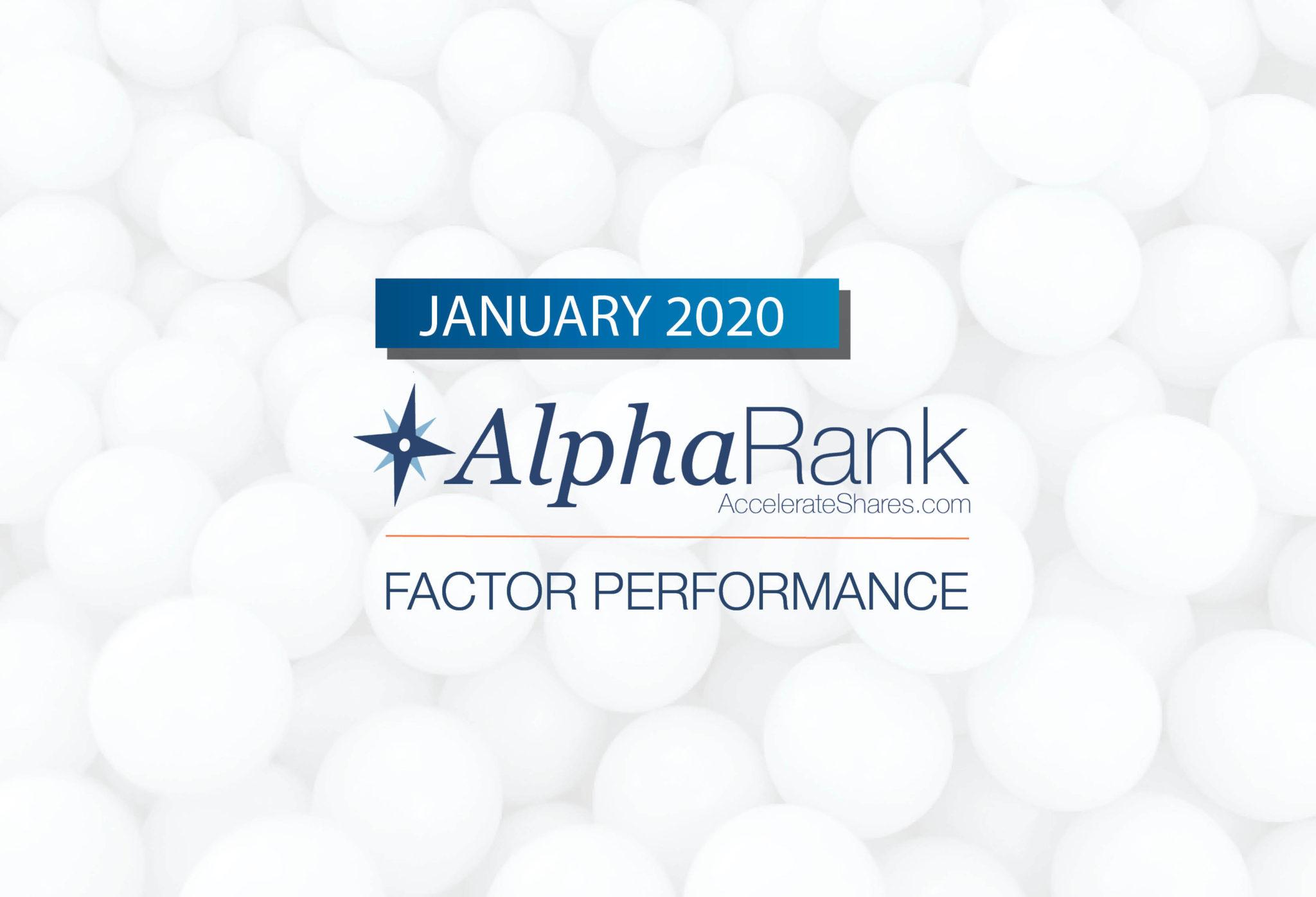 AlphaRank Factor Performance—January 2020