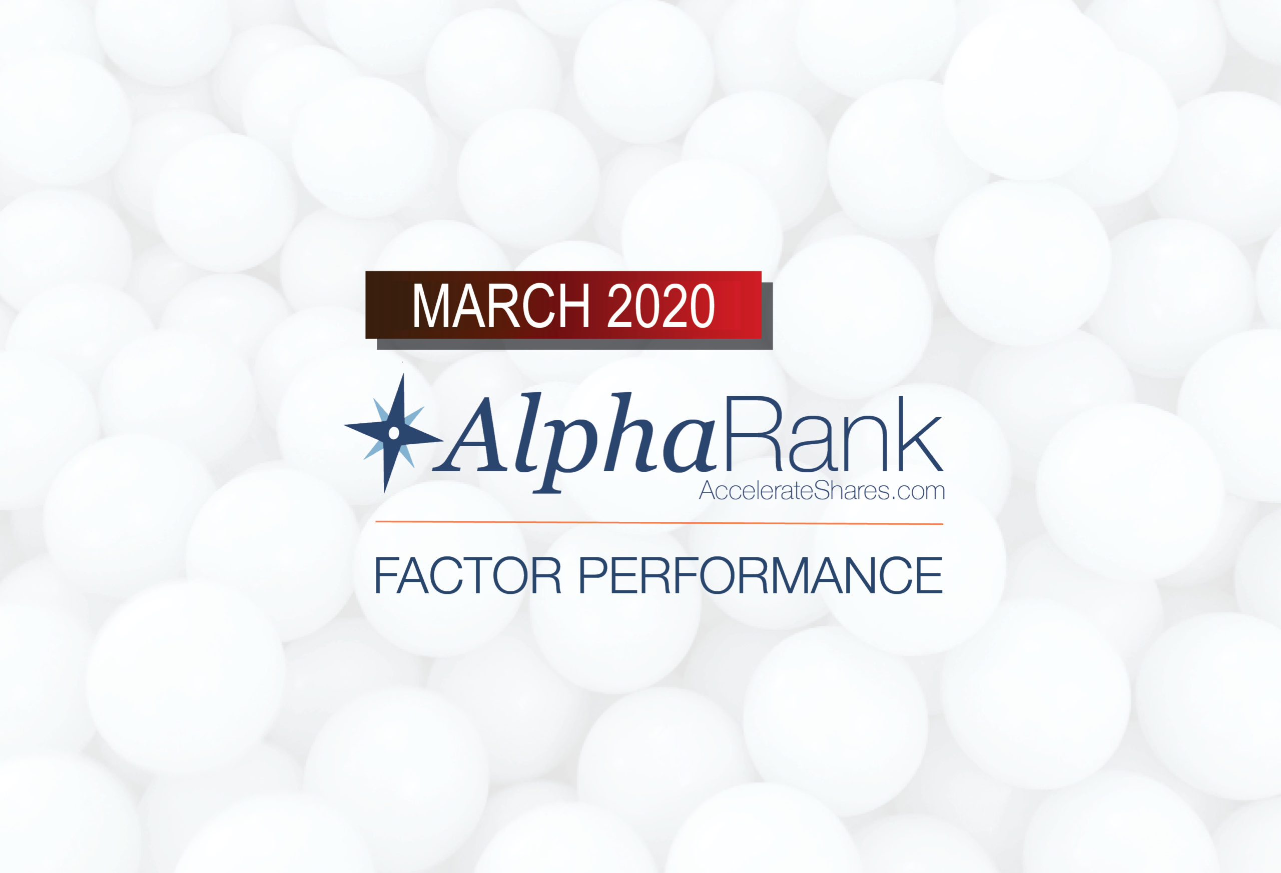 AlphaRank Factor Performance— March 2020