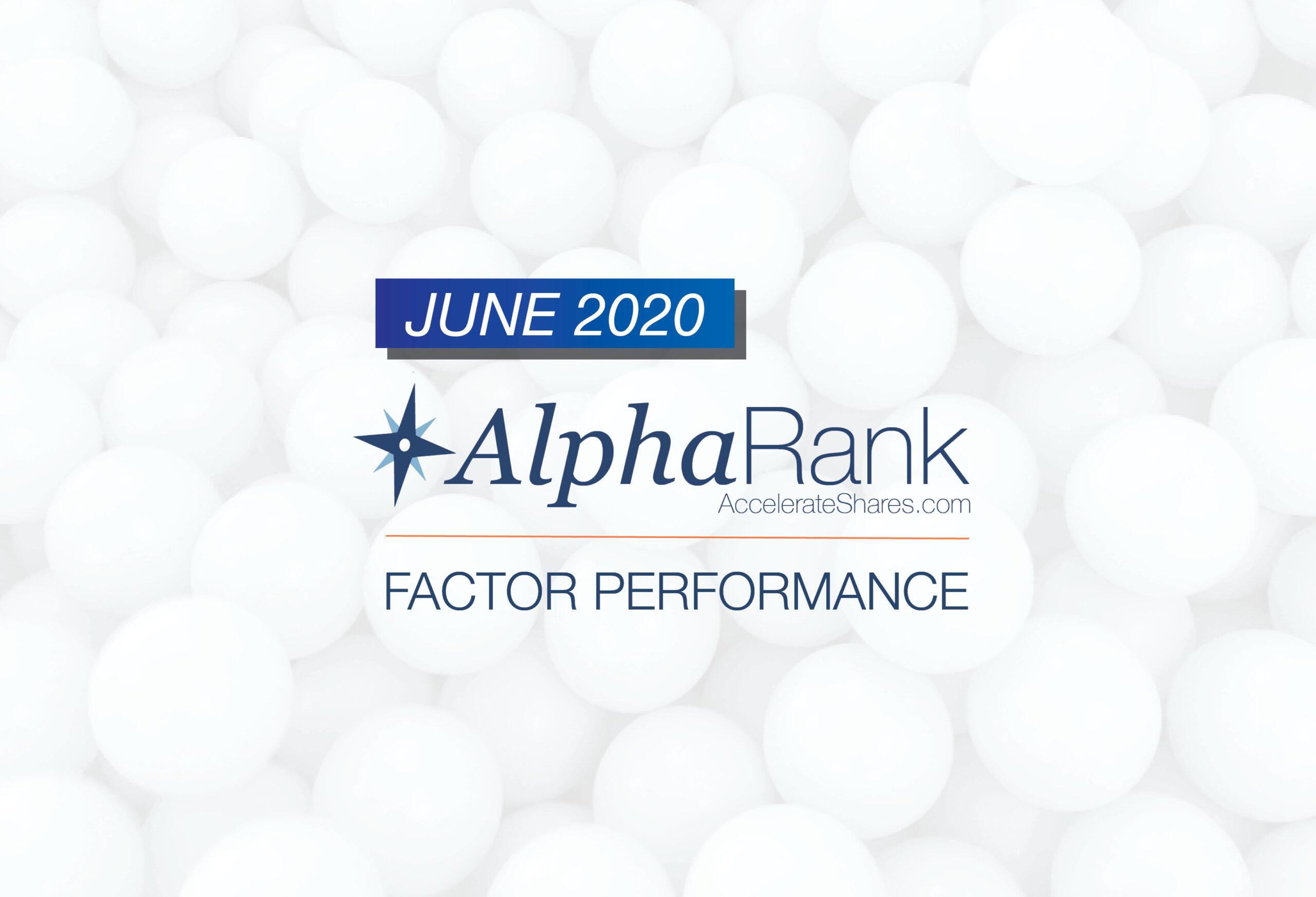 AlphaRank Factor Performance— June 2020