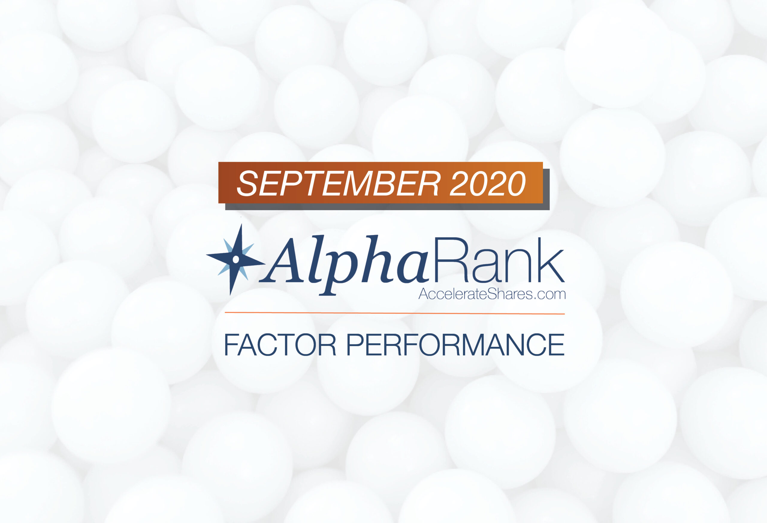 AlphaRank Factor Performance – September 2020