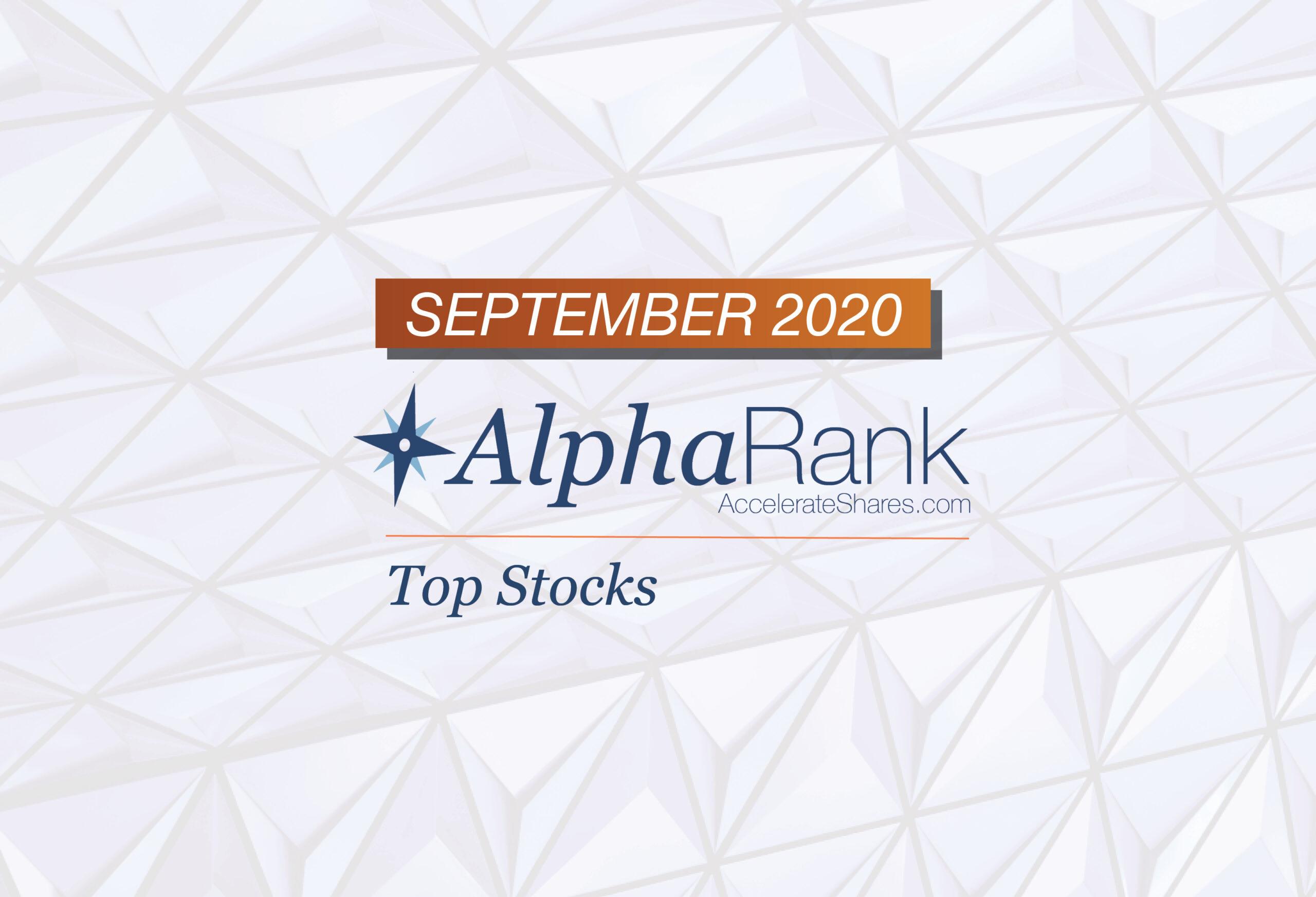 AlphaRank Top Stocks—September 2020