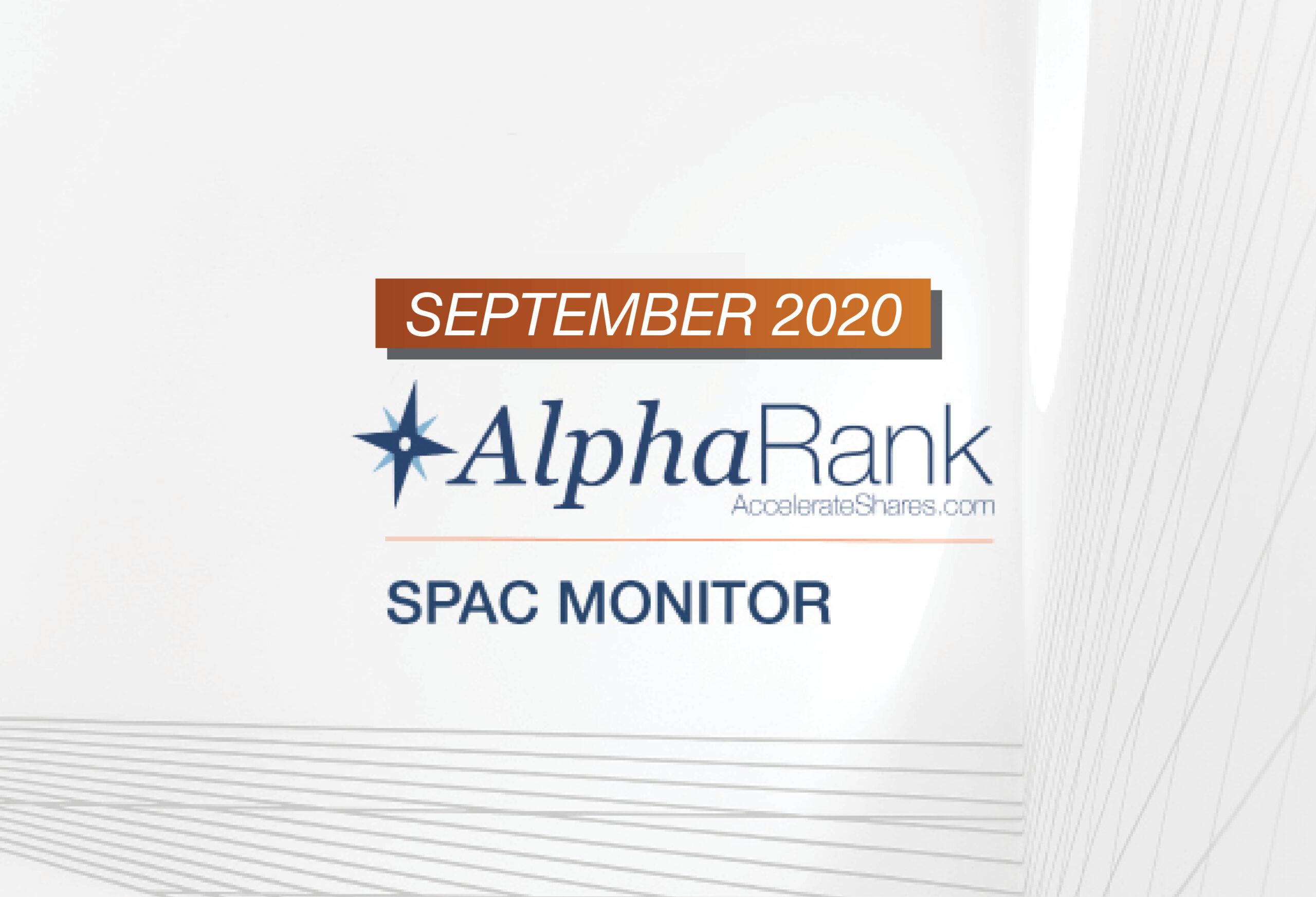 AlphaRank SPAC Monitor- September 2020
