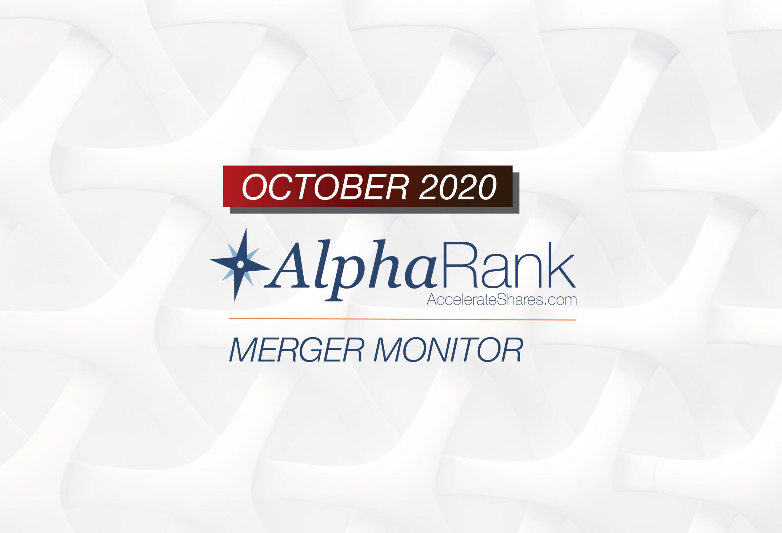 AlphaRank Merger Monitor – October 2020