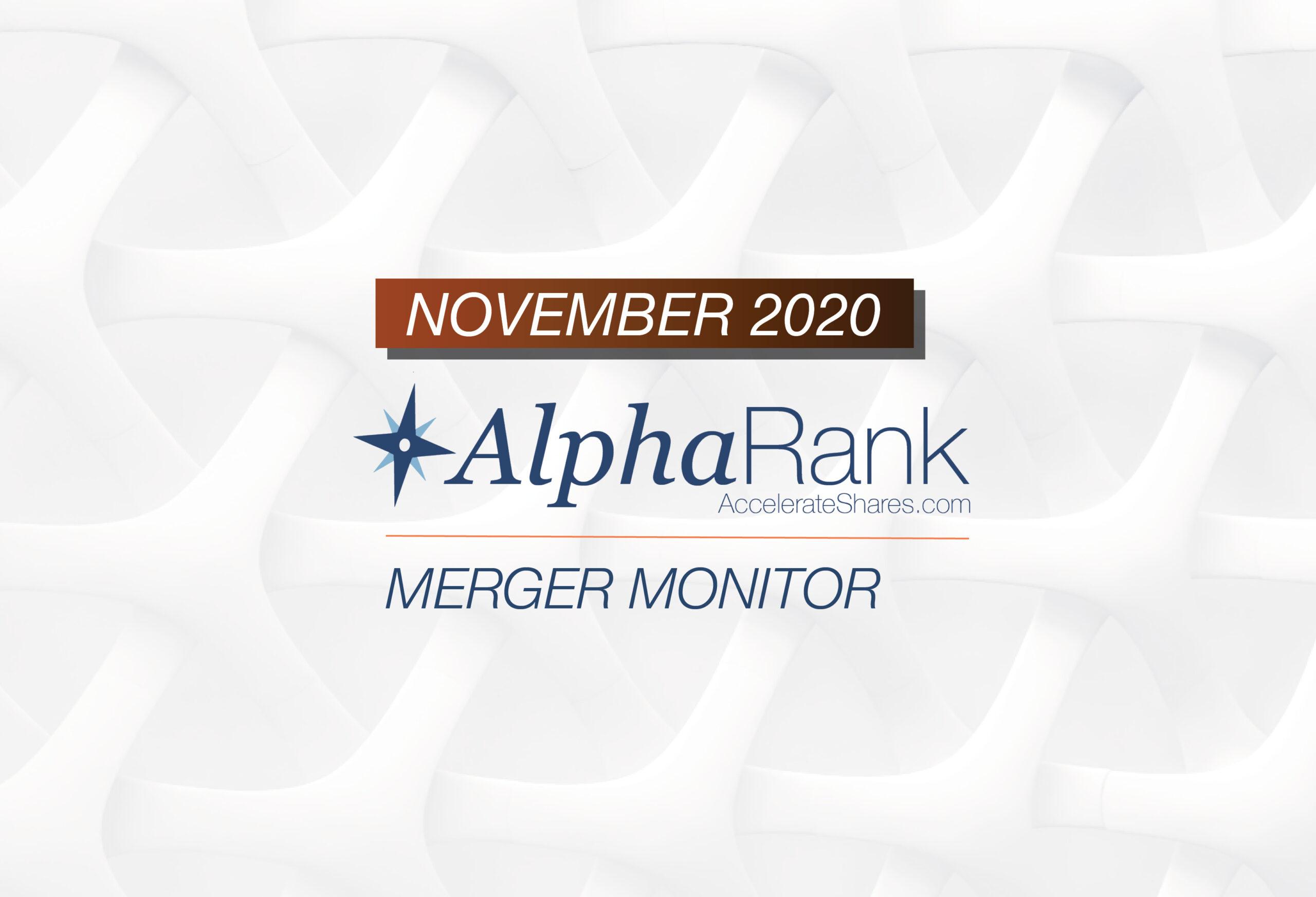 AlphaRank Merger Monitor- November 2020