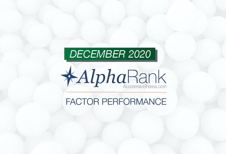 AlphaRank Factor Performance- December 2020