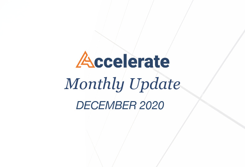 Accelerate Monthly Update – December 2020