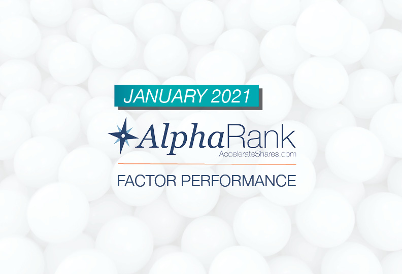 AlphaRank Factor Performance- January 2021