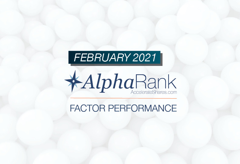 AlphaRank Factor Performance- February 2021