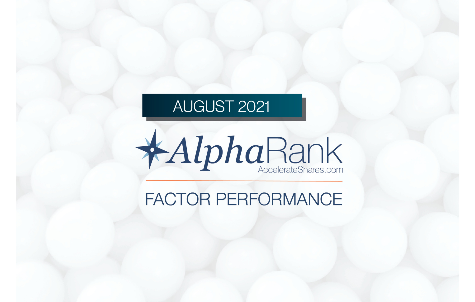 AlphaRank Factor Performance- August 2021