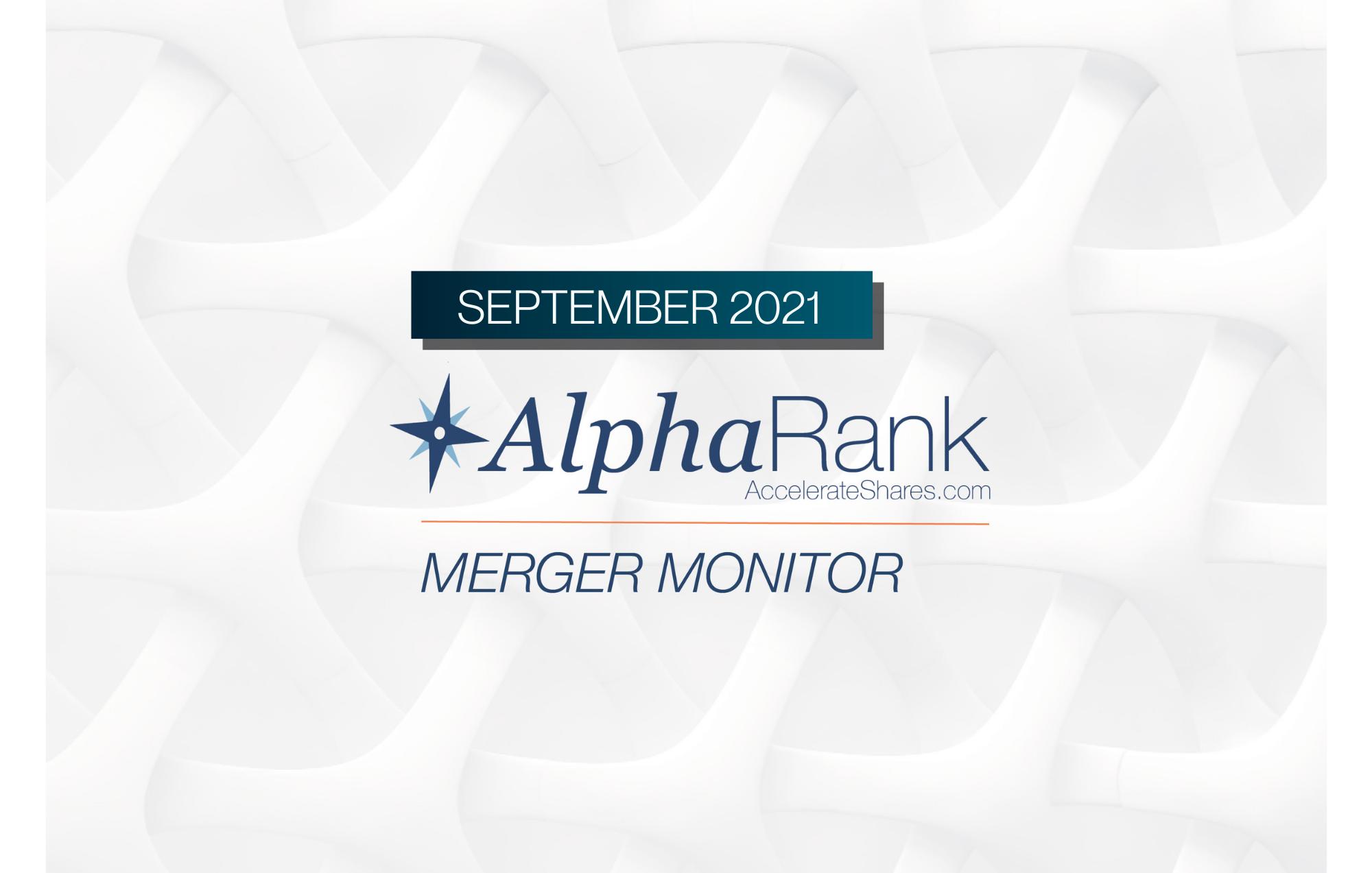 AlphaRank Merger Monitor – September 2021