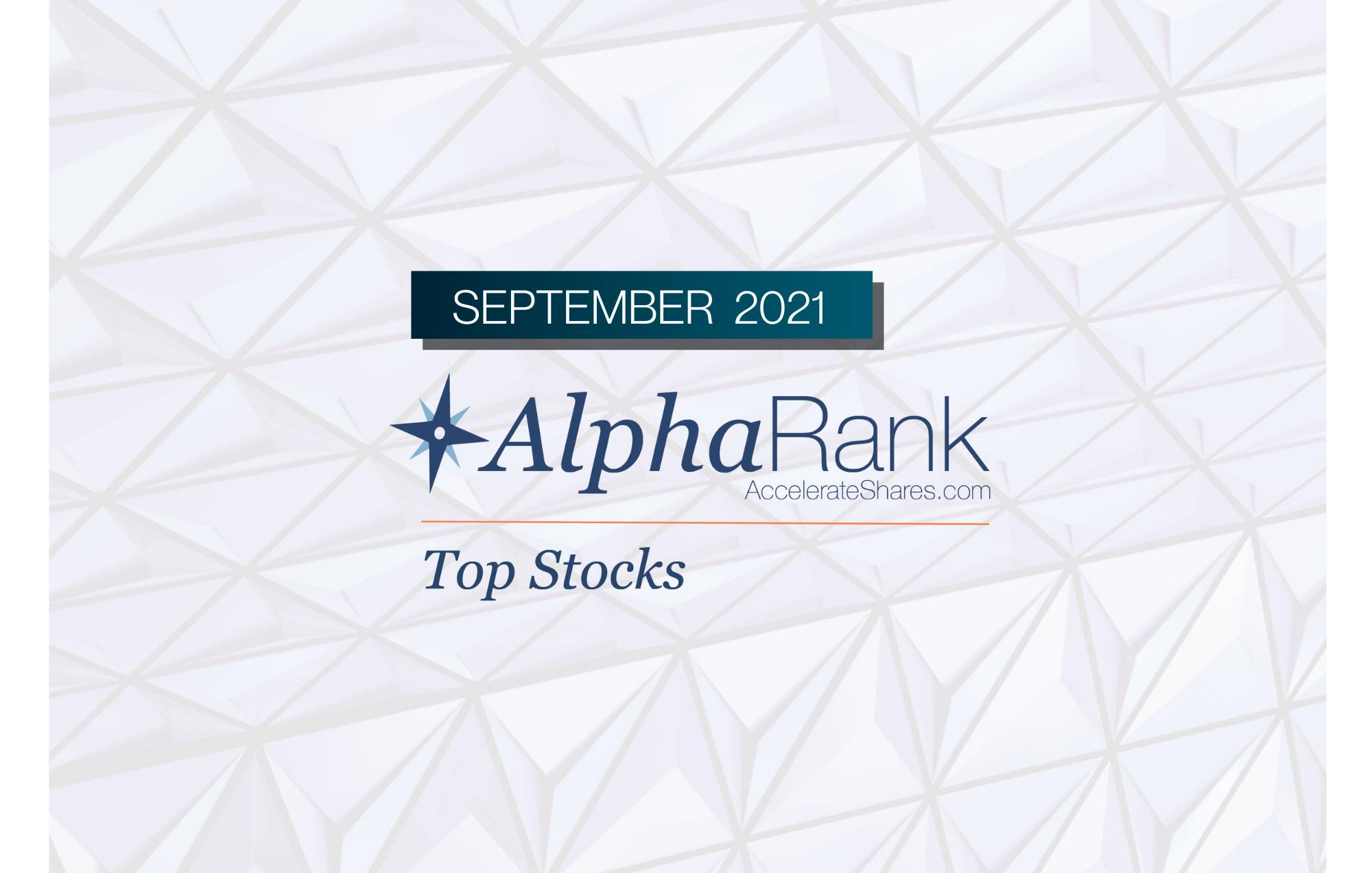 AlphaRank Top Stocks – September 2021